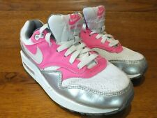newest 5fdac 7fb2c Nike Air Max 1 GS White Pink Grey Casual Trainers UK 5.5 EU 38.5