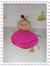 ♣ - Doudou Marionnette Papillon Coccinelle Poupée Fuchsia Fleurs  Lilliputiens