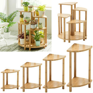 2 Tier Corner Rack Storage Shelves Sofa Side End Coffee Table Plant Holder Stand