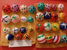 VINTAGE GUMBALL/VENDING CHUNKY PAINTED HIPPIE RINGS LOT OF 31