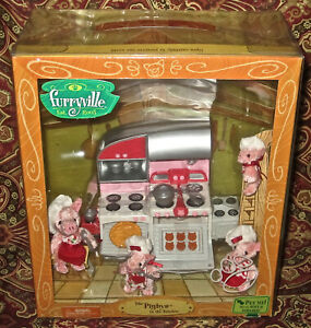 Furryville The Pigbys In The Kitchen Mattel Play Set NIB NEW Sealed in Box Gift