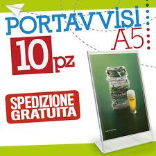 10*PORTA AVVISI A5 espositore plexiglass portacartelli comunicazioni  bar 106123