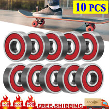 10-Pack ABEC 9 SWISS Skate Bearings, Skateboard Longboard Scooter Roller