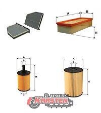 Set L: Innenraumfilter+Luftfilter+Ölfilter+Kraftstofffilter Inspektionspaket VW