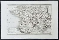 1750 Christop. Cellarius Original Antique Map of France - Gallia