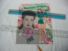 Maureen O'Hara Paper Dolls by Marilyn Henry / Movie Fashions / Hand Signed Uncut