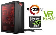 HP OMEN Gaming PC Desktop AMD Ryzen 5 8GB HyperX 512GB SSD NVIDIA GTX 1660Ti 6GB