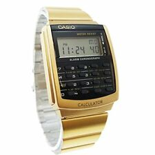 NEW Casio Men's Calculator Databank Gold Tone Stainless Steel Watch #CA506G-9AV