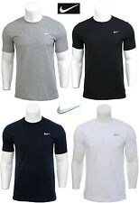 Men's Nike Logo T-shirt Top - Retro Vintage Branded Sports Cotton Grey2 XL