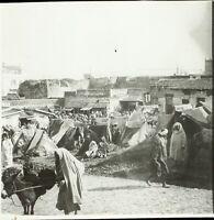 MAROC Tanger Maghreb 1904, Photo Stereo Grande Plaque Verre VR9L5n8