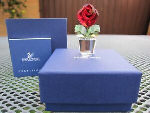 "Swarovski ""Red Rose"" Crystal Figurine 0855896"