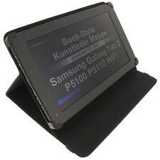 Tasche f. Samsung Galaxy Tab 2 10.1 Book Style Tablet Schutz Hülle Ständer schw.