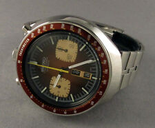Seiko 6138-0040 BullheadChronograph Automatic Watch Rare Beautiful Brown