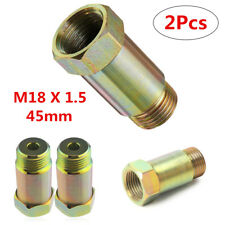 2Pcs New 45mm Straight O2 Oxygen Sensor Extension Spacer Extender M18 X 1.5 CEL