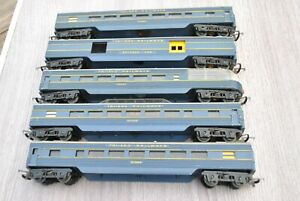 00 gauge Rake of 5 Triang Transcontinental Coaches - inc Observation Cars