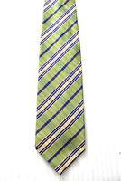 ERMENEGILDO ZEGNA Krawatte Tie grün gestreift Seide Luxus (G2/54)