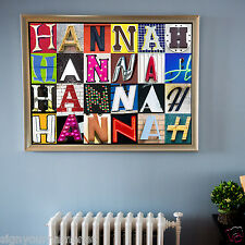 "Personalized Poster (LARGE-20""X30"") Featuring ANY NAME in Letters from Signs"