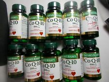 LOT of 10  BOTTLES Nature's Bounty Cardio Co Q-10 100-400 mg 662 Softgels FREE