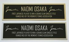 Naomi Osaka nameplate for signed autographed tennis ball photo racket or case