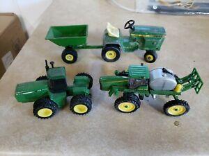 LOT OF JOHN DEERE FARM TOYS 1:64 SCALE TRACTORS - 4 Total - Mower - Sprayer 4920