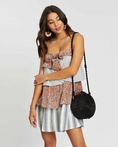 BNWT TIGERLILY LADIES ALAMEA FRILL DRESS (0RANGE) SIZE 8 RRP $169 LAST ONE
