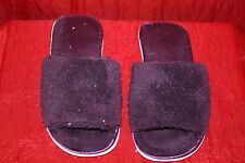 Purple Faux Fur Slippers UK7-8 Large Used W0rn Flats Fluffy Scuffs Soft Stretch