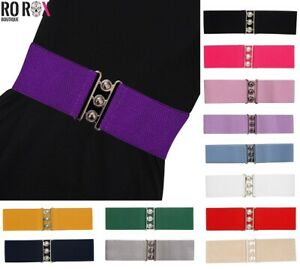 Ro Rox Elasticated Wide Classic Nurse Belt Vintage Retro 1950's Waist Cincher