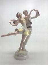 """Vintage Hutschenreuther 11"""" Porcelain Barefoot Dancers Figurine"""