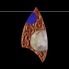 Gem Wolf Bead Gc003159 Carved Wood Mop &