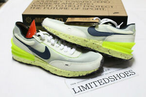 NIKE WAFFLE ONE CRATER LIME ICE ARMORY NAVY VOLT DC2650-300 Men Casual Sneakers