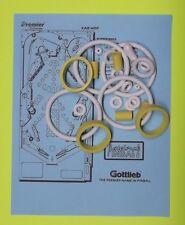 1991 Gottlieb / Premier Car Hop pinball rubber ring kit