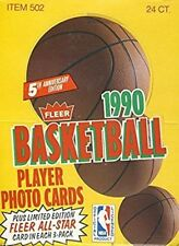 1990-91 Fleer Basketball Rack Pack Box - 24 Rack Pack Box