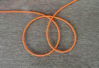 Handmade Simply Orange-Single Strand African Waist beads, Belly Beads