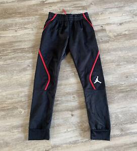 Nike Air Jordan Boys Youth Jumpman Fleece Jogger SweatPant M 10-12 Black/Red
