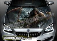218 Car bonnet hood wrap printed graphics sticker AIR RELEASE vinyl Grim Reaper