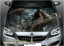 218 Car bonnet hood wrap printed graphics sticker AIR RELEASE vinyl Grim Reaper