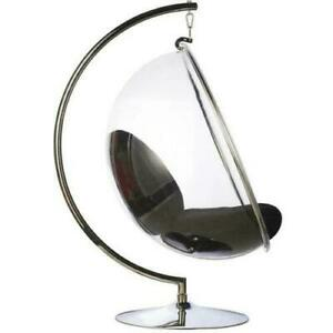 Hanging Bubble Chair Stainless Steel Frame with Stand & Cushion Various Colours