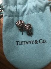 Toning Authentic Tiffany & Co New Twist Knot Stud Earrings Sterling Silver AG925