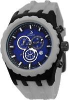 Joshua & Sons JS59GY Swiss Quartz Chronograph Date Blue Dial Grey Mens Watch
