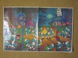 "Vintage 1983 Smurfs Berry Crunch Post Cereal Promo Poster 11"" x 17"""