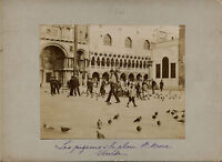 Italia Venezia Place Chiamato San Marco Vintage Albumina Ca. 1900
