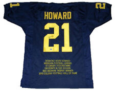 DESMOND HOWARD AUTOGRAPHED SIGNED MICHIGAN WOLVERINES #21 NAVY STAT JERSEY GTSM