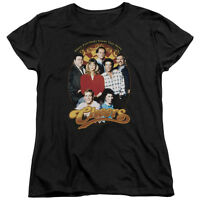 Cheers TV Show Early Cast GROUP SHOT Women's T-Shirt All Sizes