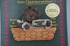 Boyds Bears BEARWEAR - Recipe For Friendship - Brooch Pin