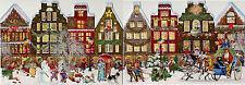 Nostalgische Weihnachtsstadt Adventskalender Leporello zum Aufstellen Glimmer