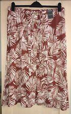 Cream & Tan/Brown Button Up Primark Midi Skirt Size 18 BNWT