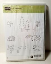 Stampin' Up! Life In The Forest Clear Mount Rubber Stamp Fox Raccoon Porcupine