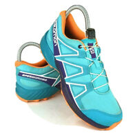 Salomon Speedcross Kids size 4 Junior Trail Running Hiking Sneakers Teal Blue