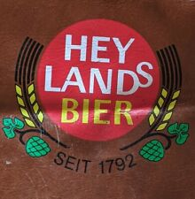 Vintage Leather Like Hey Lands Bier Beer Bartender Apron Mancave Rare German
