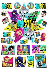 EDIBLE *PRECUT* TEEN TITANS GO! ICING CAKE CUPCAKE TOPPERS BIRTHDAY DECORATIONS